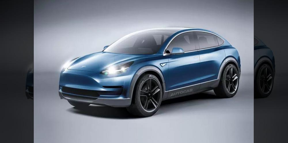 Model Y車體將採用更簡易結構,加上能大幅縮短製程,Elon Musk以「掀起產業革命」形容這款電動車。圖為網路上流傳的非官方Model Y想像圖