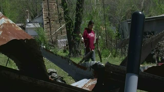Clean-up continues in Spavinaw after tornado