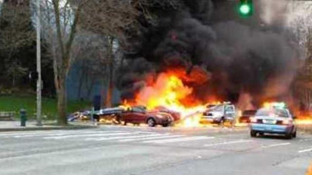 Helicopter Crashes in Seattle
