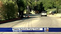 Teens Survive Fiery Crash In Benedict Canyon