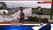 High winds damage Stephan's Center fireworks stand
