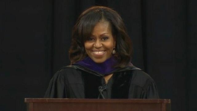 Michelle Obama Inspires Bowie State Students at Commencement