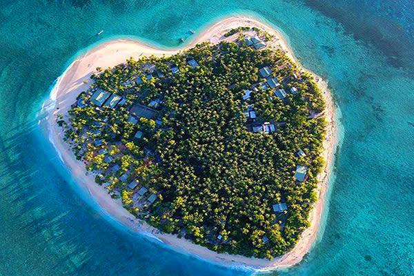 斐濟愛心島嶼 (圖/Tourism Fiji)