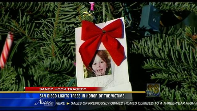 San Diego lights trees in honor of Sandy Hook victims