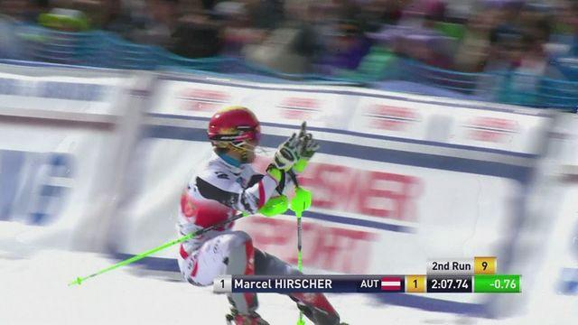 Marcel Hirscher wins the men's slalom in Lenzerheide