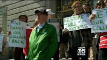 San Francisco City College Protesters Rally At City Hall After Clash