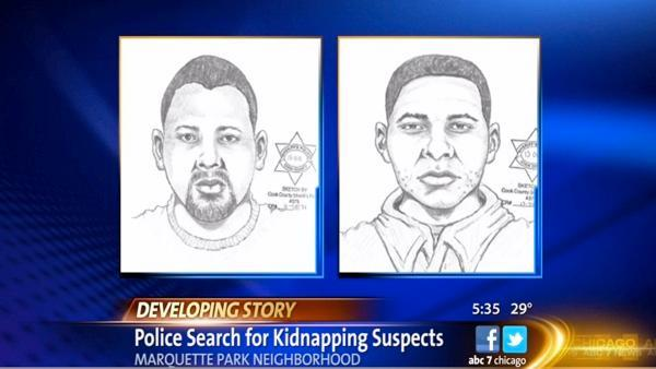 Alleged Chicago kidnappers sketches released