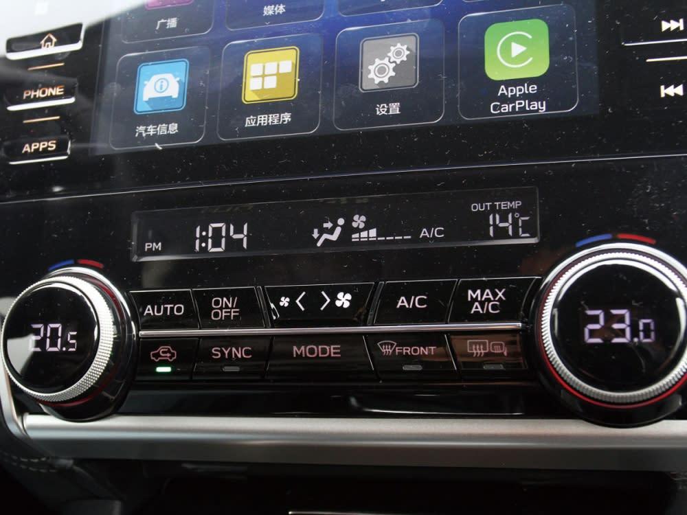具有雙區恆溫空調,使正副駕駛能依自己喜好調節溫度。