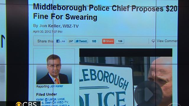 Long Story Short: Police in Mass. town want fine for cursing