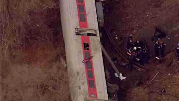 Passengers injured in train derailment rushed to hospitals