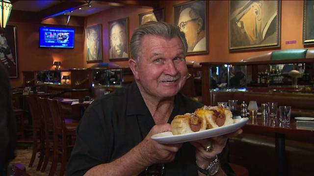 Coach Ditka plays `Know Your Sausages`