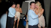 Brandi Glanville Stumbles Out of Hollywood Restaurant