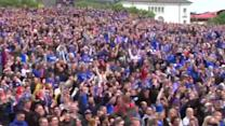 Icelanders ecstatic to reach Euro quarter-finals