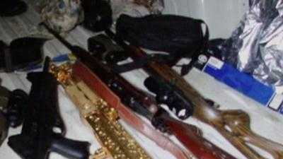 Raw: Police in Honduras Find Gold-plated AK-47