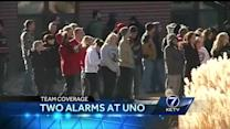 Two-alarm fire tears through UNO apartment complex