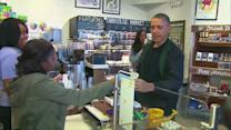 Obama and daughters purchase prose and ice pops