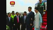 Chinese President Xi Jinping arrives in Sri Lanka