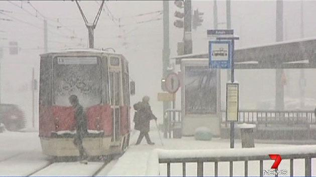 Snow in Poland causes havoc