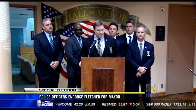 Fletcher endorsed by police officer's association