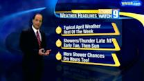 Early showers lead to sun Tuesday
