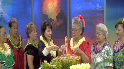 Lei Day Queens Visit