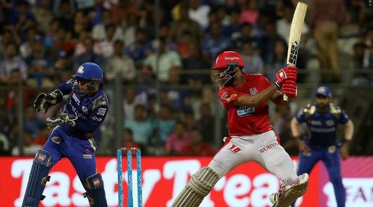 KL Rahul during his innings against Mumbai Indians