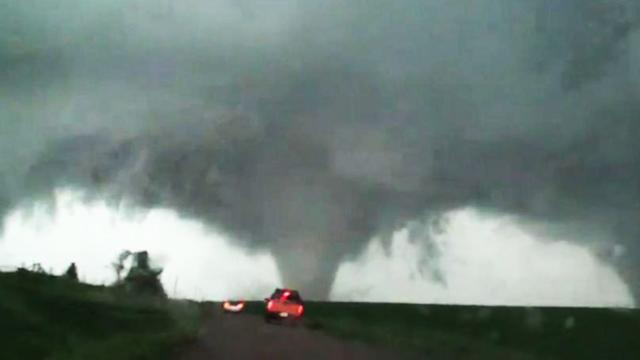 Caught on Tape: An Incredible 'Double' Tornado Strikes