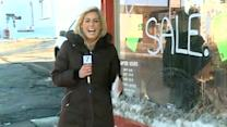Snow slush buries business inventory, owner blames city