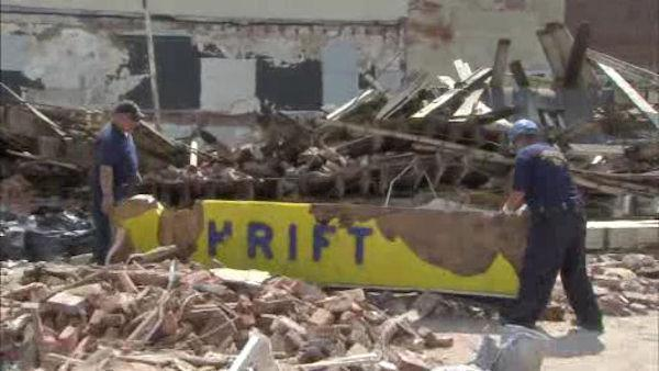 Workers sift through rubble of Center City building collapse