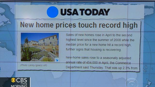 Headlines: New home prices rise to record-high levels