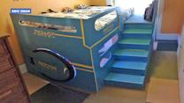 Dad Builds Out-of-This-World Spaceship Bed for 4-Year-Old Son