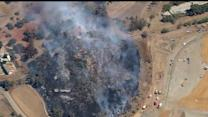 Fire Crews Fight Brush Fire In North County