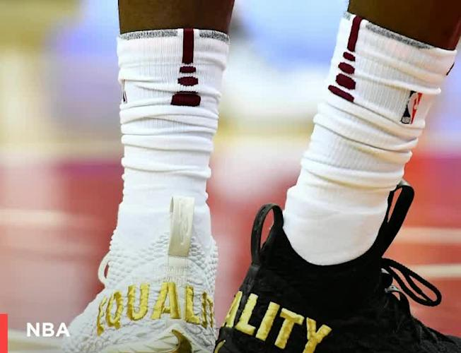 competitive price 63762 33610 LeBron James' EQUALITY shoes were a repudiation of President ...
