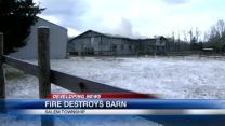 Warren County barn destroyed by fire