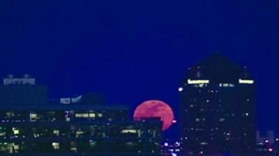 'Supermoon' Rises Over Baltimore