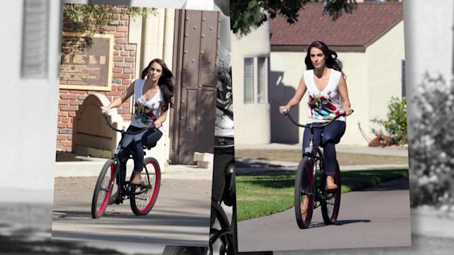 Jessica Lowndes Bikes Through The Park On Day Off