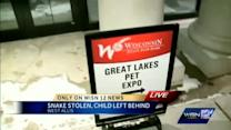 Snake stolen, child left at a pet expo