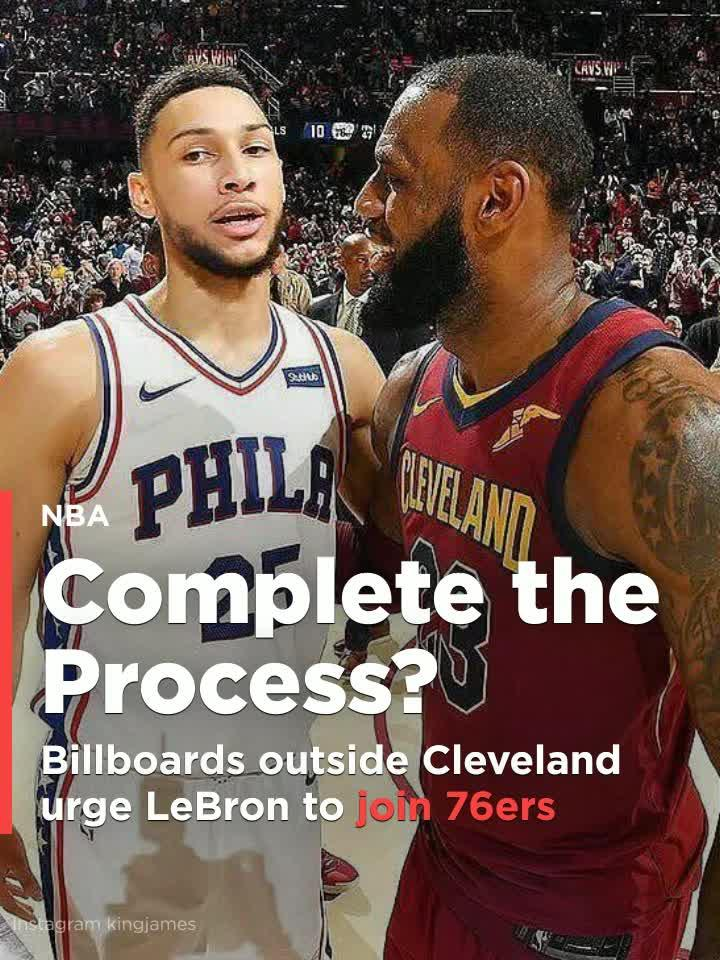 81bb2bc7004  PhillyWantsLeBron  Billboards outside Cleveland urge LeBron James to join  76ers  Video