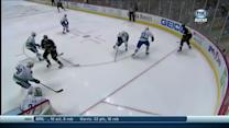 Corey Perry tallies from a sharp angle