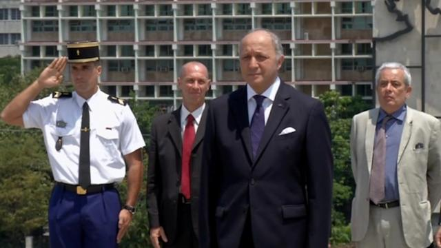French foreign minister on historic visit to Cuba