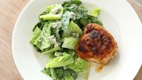 Buffalo Chicken Thighs and Blue Cheese Salad