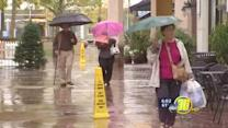 Wet weather dampens some weekend plans