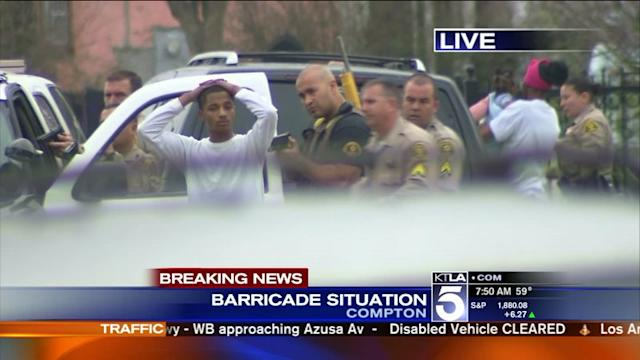 Deputies Involved in Barricade Situation in Compton