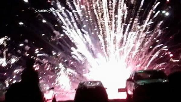 28 injured at California fireworks when platform tips