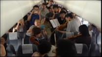 Philadelphia orchestra plays on board a plane
