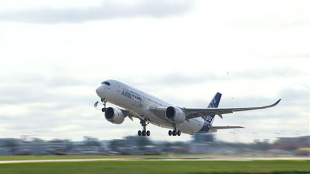 Airbus A350 takes to the sky in first test flight