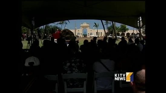 Family and friends remember fallen soldiers at Waikiki War Memorial Natatorium