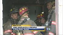 Fire displaces 9 people in Durham