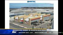 Groundbreaking ceremony for helicopter repair facility