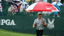 PGA Championship Round 2 - It's Rory's rain-soaked world